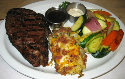 Coach House - Steak Dinner with Potato and Veggie Sides
